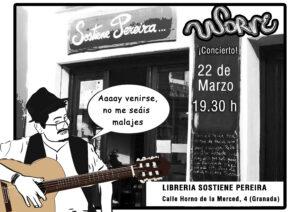 Cartel Librería Sostiene Pereira 21-03-2019